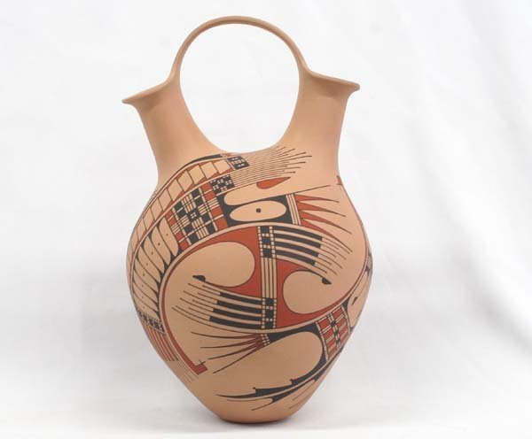 Mata Ortiz Polychrome Wedding Vase by F. Gonzalez
