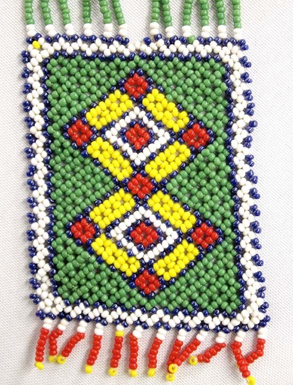 Native American Sioux Loom Beaded Necklace