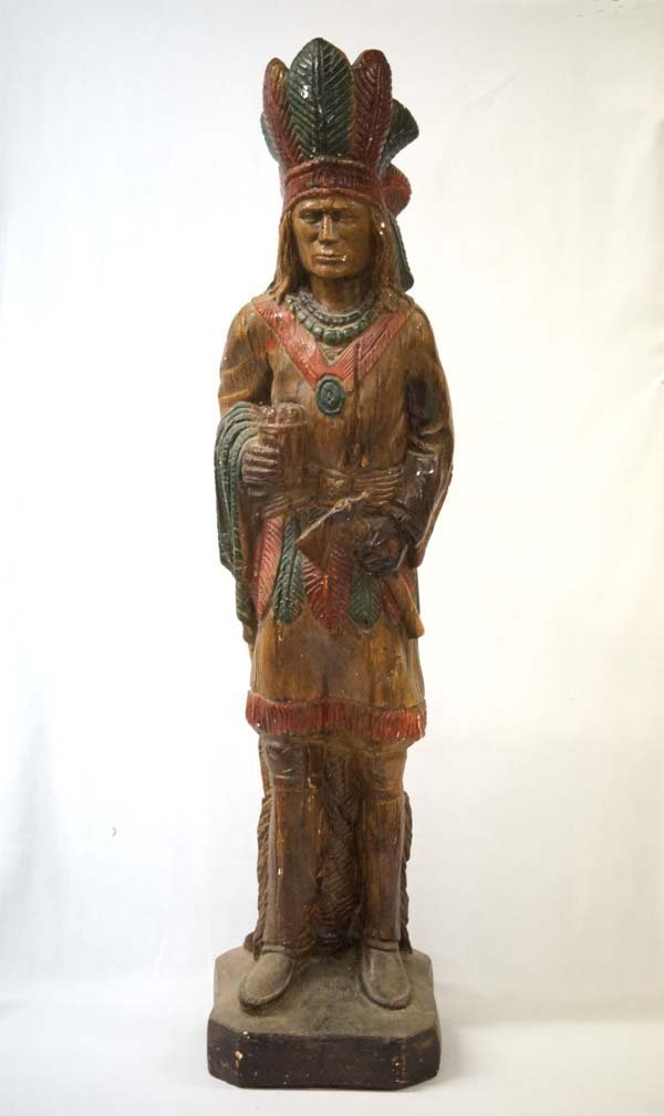 Cigar Store Indian Chalk Statue, Must Pick Up