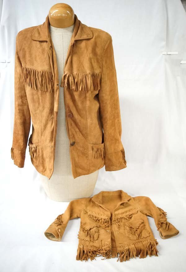 1930 Davy Crockett Suede Fringed Jackets