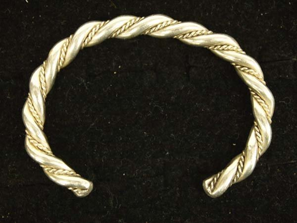 1950 Heavy Navajo Sterling Silver Guard Bracelet