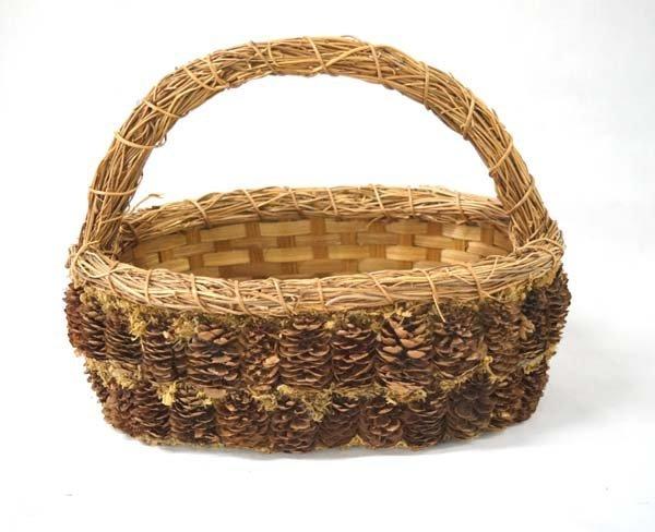Native American Pine Needle Basket