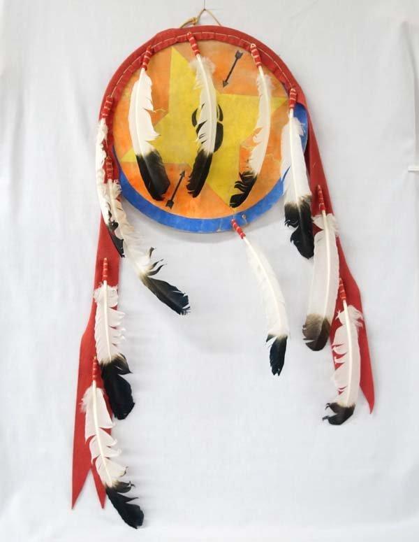 Plains Indian Painted Hide Banner