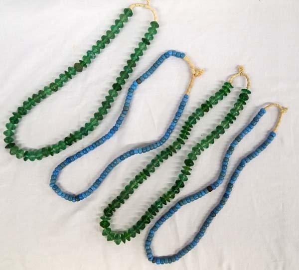 4 Trade Bead Necklaces