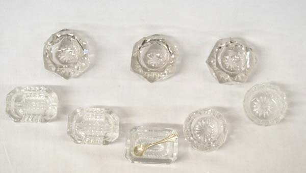 Collection of Antique Salt Cellars & Silver Spoon