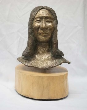 Proctor Estate Antique Bronze Native American Bust