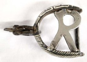 Cowboy Sterling Silver Spur Buckle