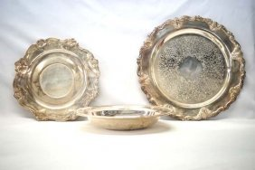 3 Estate Silver Plate Serving Dishes