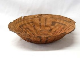 Antique Native American Pima Stairstep Basket