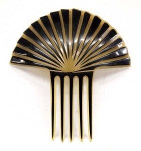 Antique Art Deco Celluloid Tiara Hair Comb