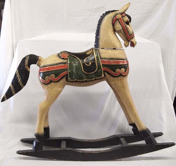 Hand Carved Wood Rocking Horse