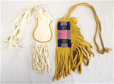 Pair of Plains Indian Beaded Doeskin Fetish Bags