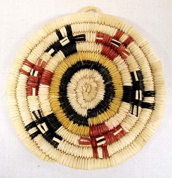 Native American Hopi Second Mesa Basketry Plate