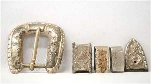 Mexican Sterling Silver Cowboy Belt Buckle