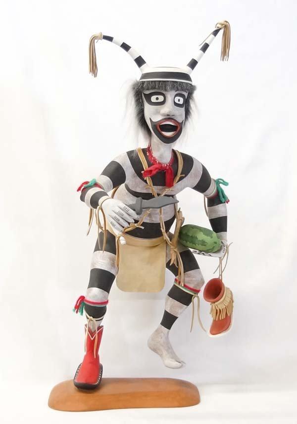 Fabulous Navajo Koshare Clown Kachina, Keith Myre