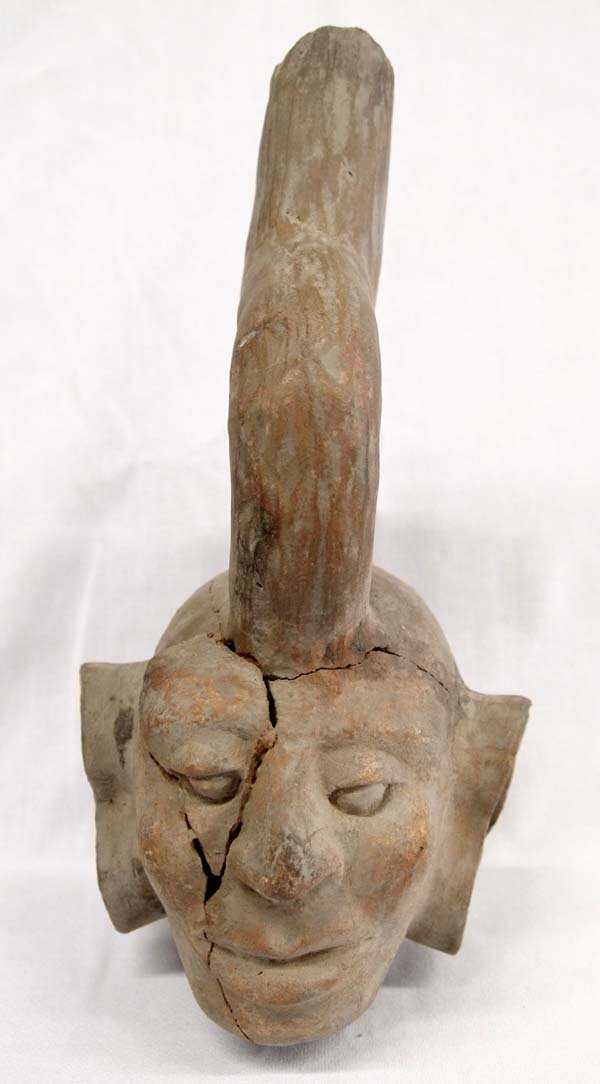 Estate PreColumbian Pottery Effigy from Peru