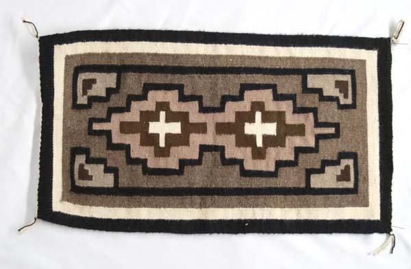 Native American Navajo Wool Textile Rug by Yazzie