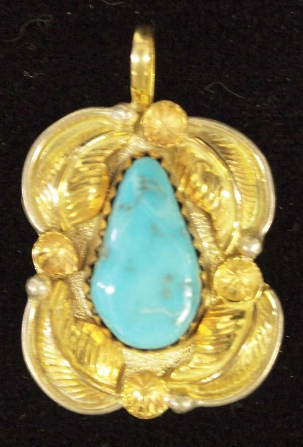 Native American Navajo 12K Gold Filled Pendant