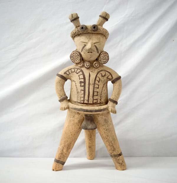 PreColumbian Pottery Male Figure Replica