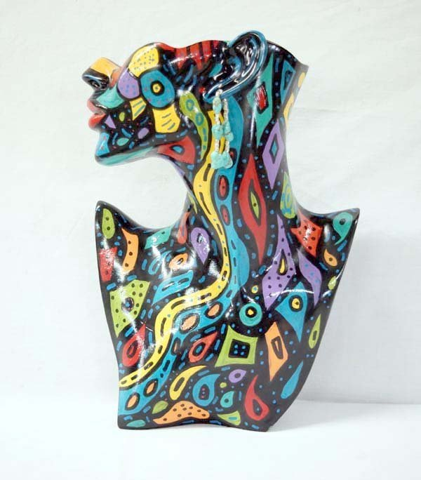 Hand Painted Partial Bust by Kathy Kills Thunder