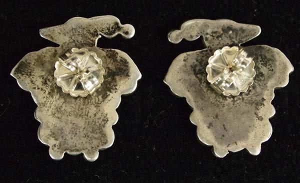 1960s Zuni Sterling Inlay Thunderbird Earrings - 2