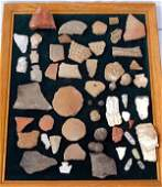 Prehistoric Mimbres Pottery Sherds and Findings