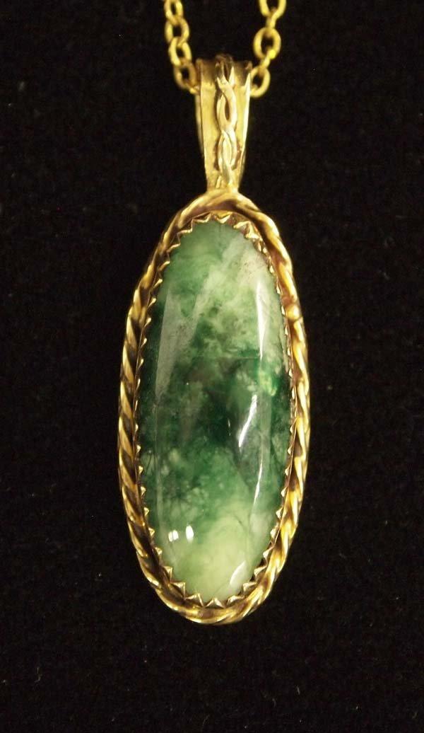 Pit River Indian 14K Gold Pendant Necklace