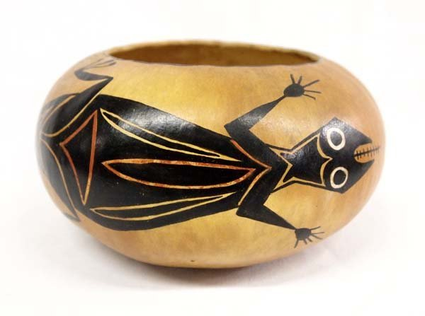 Hand Painted Gourd by Robert Rivera, Espanola NM