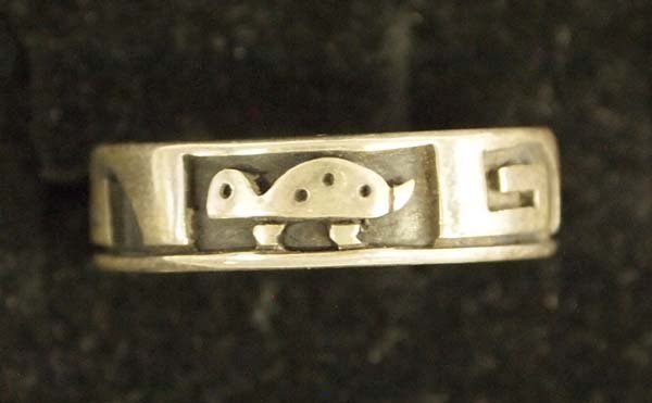 Hopi Sterling Silver Wedding Band by Nathan Fred