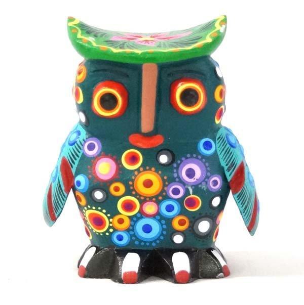 Mexican Oaxacan Owl Alebrije by Victorino Sosa V.