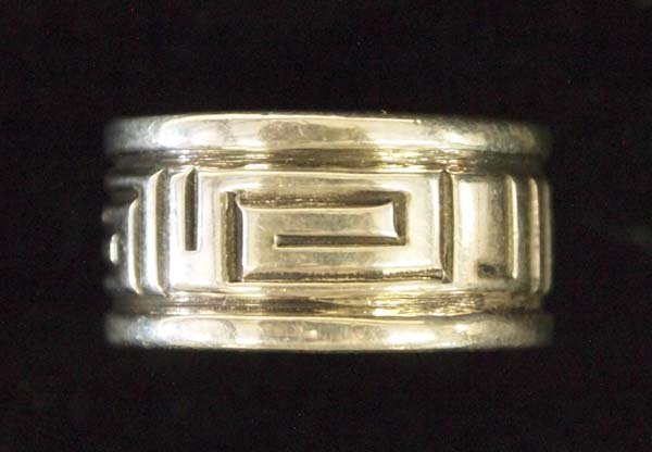 Navajo Sterling Silver Wedding Band by Troy Laner