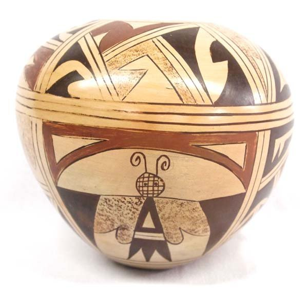 Vintage Hopi Polychrome Pottery Jar, C. Poleahla