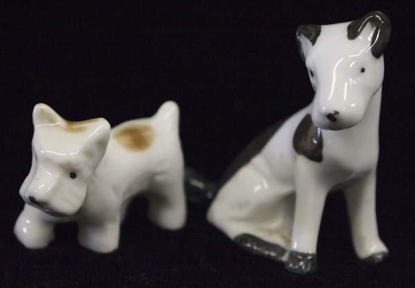 Vintage 1930s Japanese Fine Porcelain Terrier Dogs