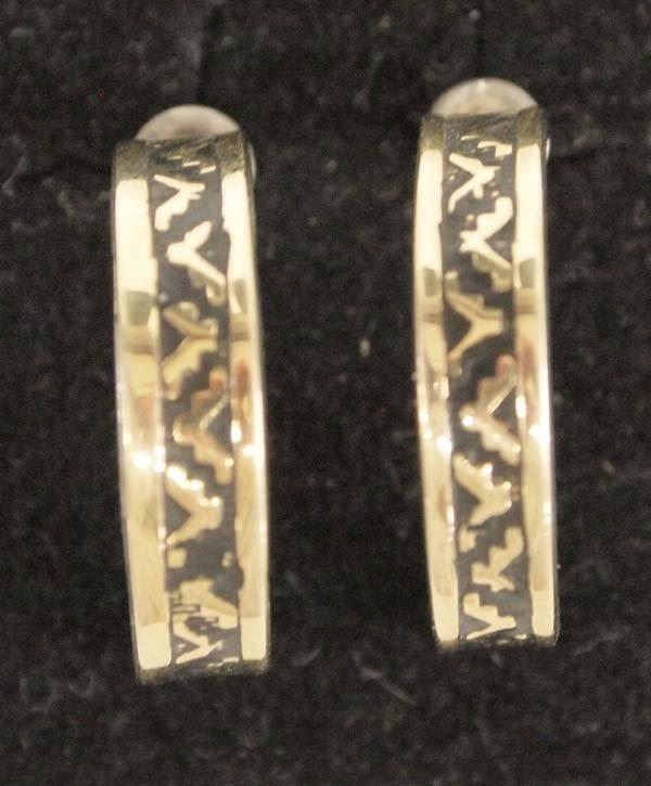Hopi 14K on Sterling Silver Gold Earrings