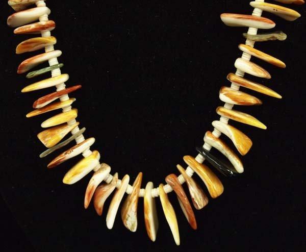 Santo Domingo Spondylus Shell and Heishi Necklace