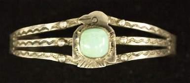 1940s Navajo Fred Harvey Silver Turquoise Bracelet