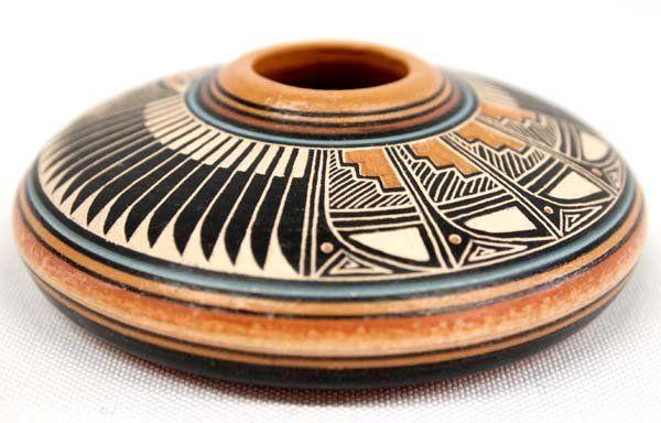 Native American Navajo Pottery Seed Jar by Crank