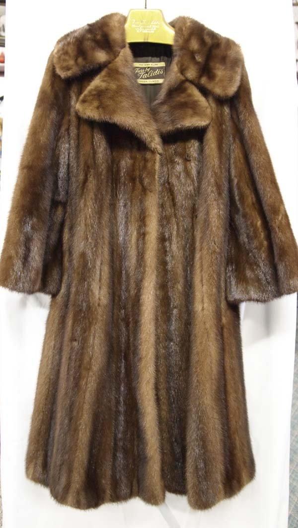 Bill Talidis Three Quarter Length Mink Coat, Med.