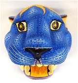 Mexican Oaxacan Carved Wood Mask by Santiago