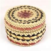 Native American Makah Lidded Basket