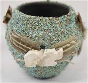 Native American Navajo Fetish Pottery Jar, Yazzie
