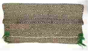 Navajo Double Sided Woven Textile Saddle Blanket