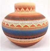 Navajo Incised Pottery Jar by K. Charley