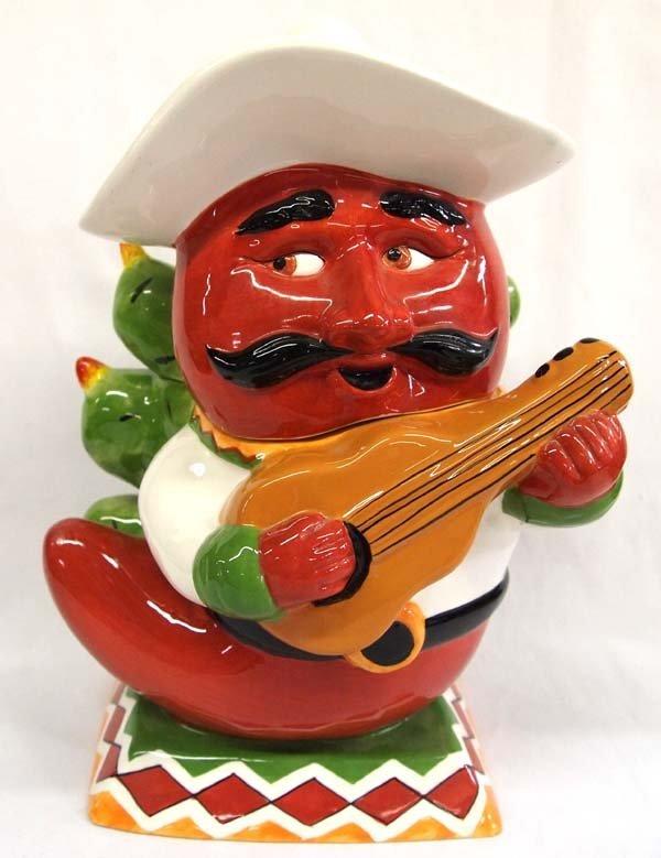 2004 Clay Art Cha Cha Chili Pepper Cookie Jar