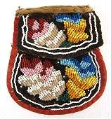 Antique Iroquois Double Sided Beaded Bag