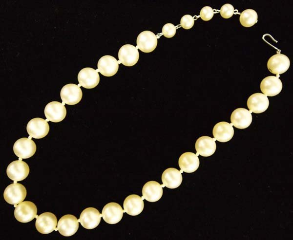 Vintage Pearl Choker Necklace - 2