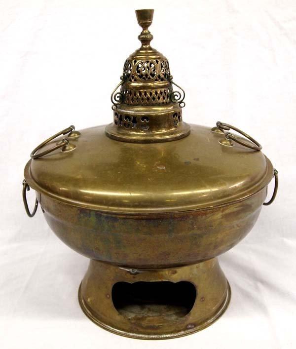 Antique Chinese Brass Mongolian Hot Fire Pot