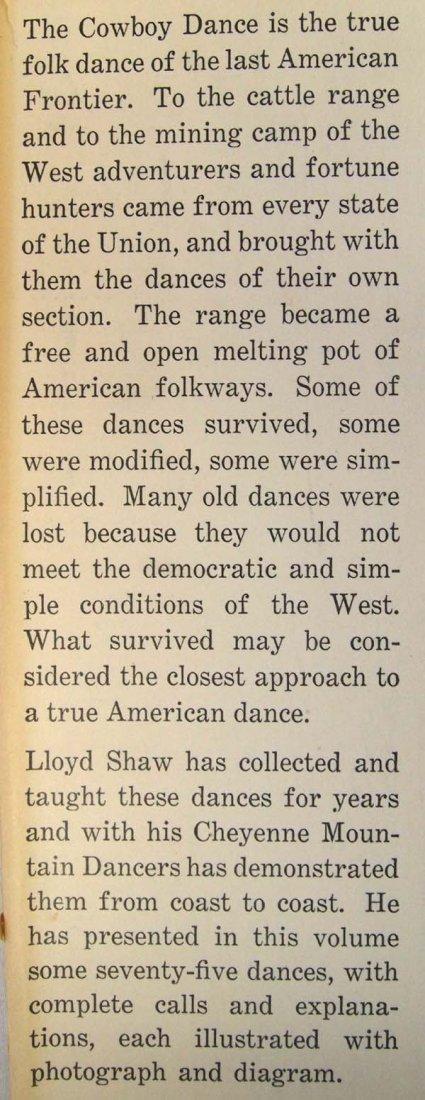 Cowboy Dances by Lloyd Shaw, Hardback Book - 2