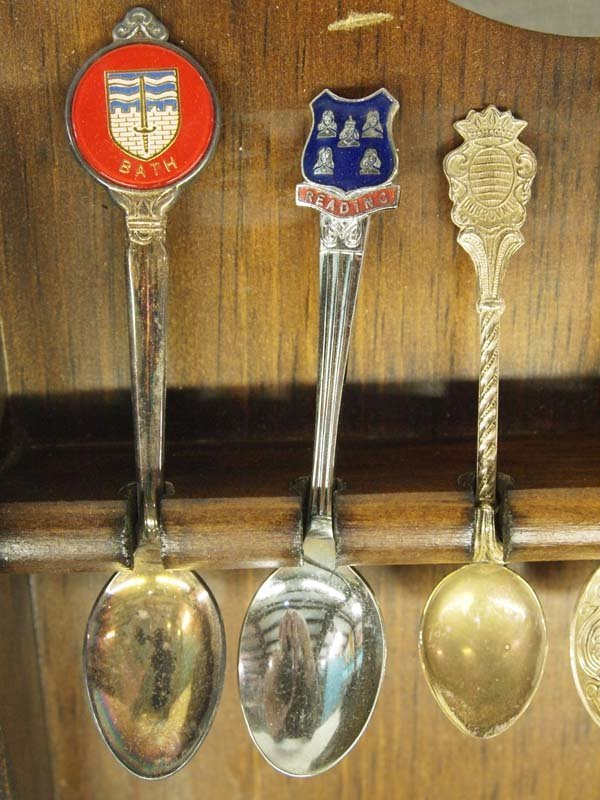 Large Collection of Collector's Spoons in Rack - 7