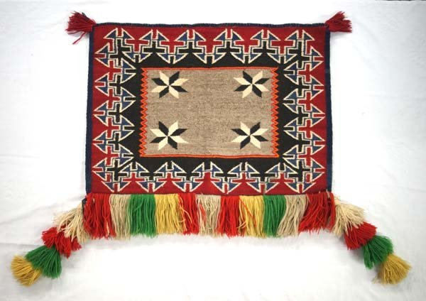 Navajo Wool Textile Sunday Saddle Blanket